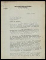 Letter to Dr. J. J. R. Macleod  5/10/1922