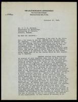 Letter to Dr. J. J. R. Macleod 15/11/1922