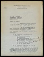 Letter to Dr. J. J. R. Macleod 9/12/1922