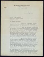 Letter to Dr. J. J. R. Macleod 14/12/1922