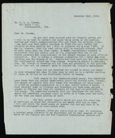 Letter to Dr. G. H. A. Clowes 21/12/1922