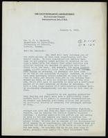 Letter to Dr. J. J. R. Macleod 8/01/1923