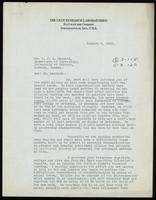Letter to Dr. J. J. R. Macleod 8/01/1923