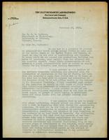 Letter to Dr. J. J. R. Macleod 23/02/1923