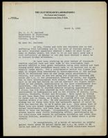 Letter to Dr. J. J. R. Macleod 2/03/1923