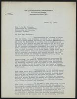 Letter to Dr. J. J. R. Macleod 15/03/1923