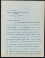 Letter to Dr. J. G. Fitzgerald 11/11/1922