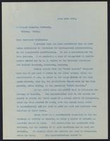 Letter to Professor Serafino Belfanti 13/06/1923
