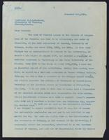 Letter to Professor J. J. R. Macleod 5/12/1925