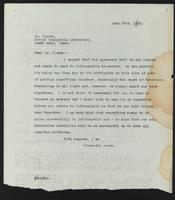 Letter to Dr. G. H. A. Clowes regarding the Indenture between the Governors of the Univeristy of Toronto and the Eli Lilly Company 28/06/1922