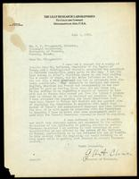 Letter to J. G. Fitzgerald regarding Dr. LeClercq 1/06/1923