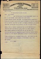 Telegram to J. J. R. Macleod 17/12/1922
