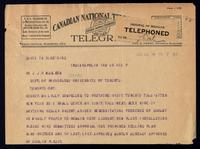 Telegram to J. J. R. Macleod 18/12/1922