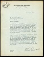 Letter to Dr. J. J. R. Macleod 15/01/1923