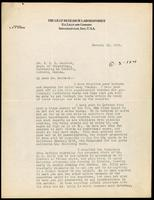 Letter to Dr. Macleod 13/01/1923