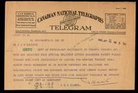 Telegram to Dr. Macleod 29/01/1923