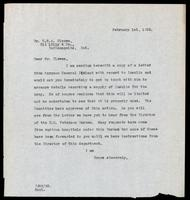 Letter to Dr. G. H. A. Clowes 1/02/1923