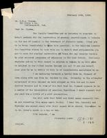 Letter to Dr. G. H. A. Clowes 19/02/1923