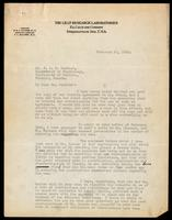 Letter to Dr. Macleod 21/02/1923