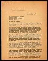Copy of letter to Dr. Duncan Graham 21/02/1923