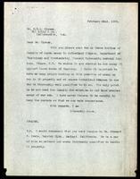 Letter to Dr. Clowes 22/02/1923