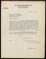 Letter to Dr. Macleod 1/03/1923