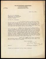 Letter to Dr. Macleod 19/03/1923