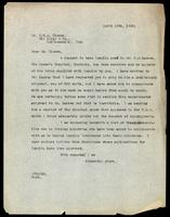 Letter to Dr. Clowes 12/04/1923