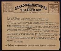 Telegram to Dr. Macleod 12/04/1923
