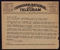 Telegram to Dr. Macleod 12/04/1923