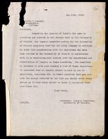 Letter to Eli Lilly & Company 15/05/1923