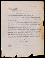 Letter to Dr. Clowes 21/05/1923