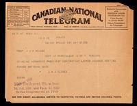 Telegram to Dr. Macleod 27/05/1923