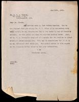 Letter to Dr. G. H. A. Clowes 30/05/1923