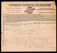 Telegram to H. H. Hornbrook 4/06/1923