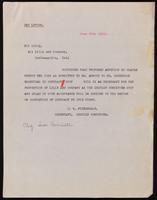 Telegram to Eli Lilly 27/06/1923