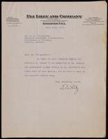 Letter to Dr. Fitzgerald 29/06/1923