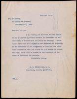 Letter to Eli Lilly 3/07/1923