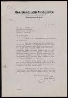 Letter to Dr. J. G. Fitzgerald 7/07/1923