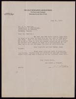 Letter to Dr. F. G. Banting 31/07/1922