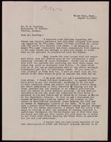 Letter to Dr. Banting 11/08/1922