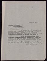 Letter to Dr. Walters 23/08/1922