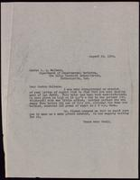 Letter to Dr. Walters 26/08/1922