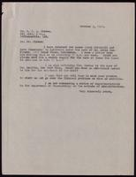 Letter to Dr. Clowes 5/10/1922