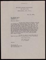 Copy of letter to Dr. Morton Ryder 10/10/1922