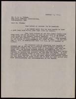 Letter to Dr. Clowes 12/10/1922