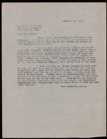 Letter to Dr. Clowes 20/10/1922