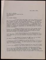 Letter to Dr. Clowes 19/06/1923