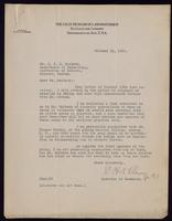 Letter to Dr. Macleod 13/10/1922