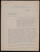 Copy of letter to Dr. Clowes 10/01/1923